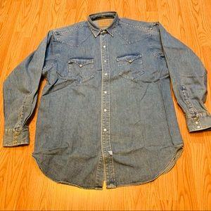 RALPH LAUREN POLO COUNTRY Snap Button Shirt Sz L